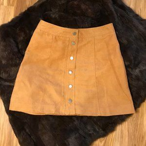 H&M Divided Faux Suede Skirt